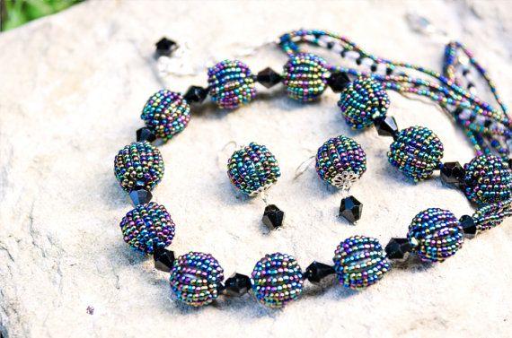 Комплект Ожерелье и Серьги Вероника от bellinalviv на Etsy, $30.00
