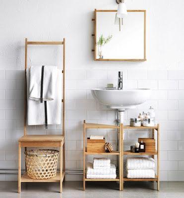 Gabinetes de Bambú o Madera para el baño - decorando-interiores.com - Revista de decoración del hogar y oficina