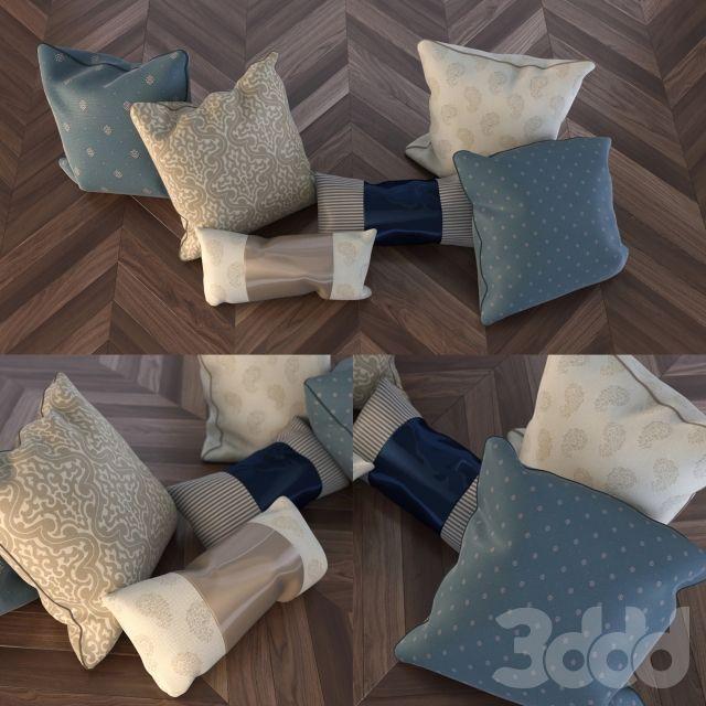 3d модели: Подушки - Набор подушек