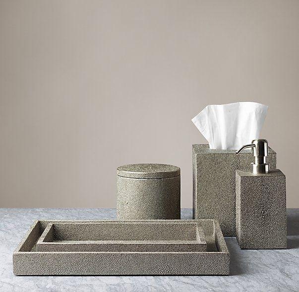 Shagreen Bath Accessories - Smoke