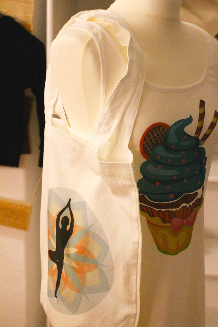 #DIY im #Friedrichshain - Cupcake-Shirt und Yoga-Jutebeutel - beides von my-tagshirt. Und noch viel mehr im Laden!