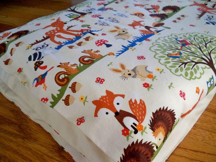 Toddler Duvet Cover, Crib Bedding - Designer Fabric - Forest Animals, Made to Order by DMDesignes on Etsy https://www.etsy.com/listing/169800830/toddler-duvet-cover-crib-bedding