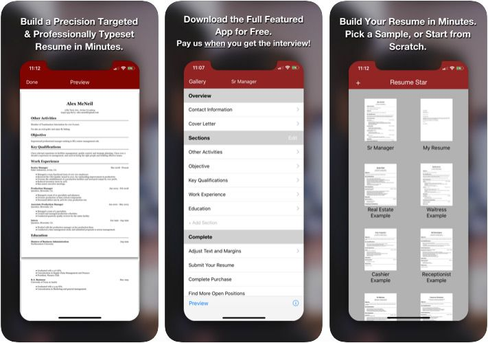 Best Iphone And Pad Apps To Create Your Resume 2019 Edition