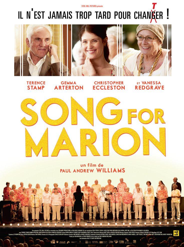 Song for Marion est un film de Paul Andrew Williams avec Terence Stamp, Vanessa Redgrave. Synopsis : Arthur et Marion, couple de retraités londoniens, sont profondément unis malgré leurs caractères dissemblables ; Marion es