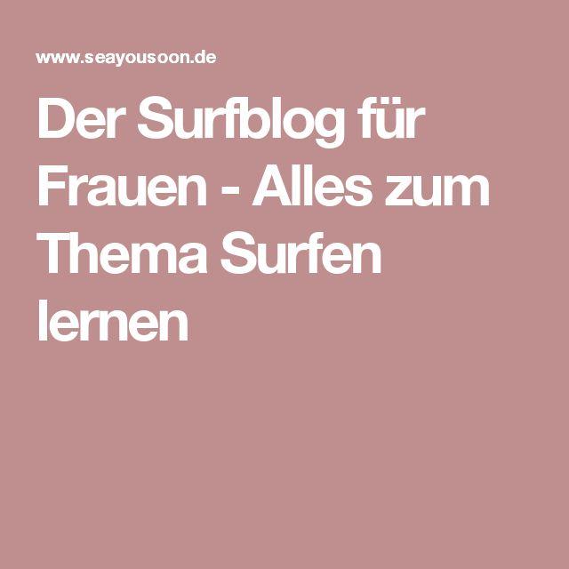 Der Surfblog für Frauen - Alles zum Thema Surfen lernen