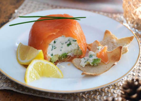This smoked salmon makes the perfect Christmas starter with each guest getting a parcel to spread on star-shaped toasts
