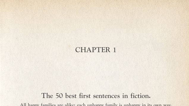 """In a 2013 interview with Joe Fassler, horror fiction maestro Stephen King reflected on the magnitude of a novel's introductory sentence. """"An opening line should invite the reader to begin the story,"""" he said. """"It should say: Listen. Come in here. You want to know about this."""" The first sentence sets the stage—however long or short the text—and hints at the """"narrative vehicle"""" by which the writer will propel the book forward. King continued:"""