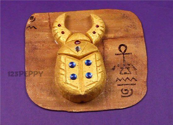 ACTIVITE - Fabriquer un scarabé doré, symbole de renaissance DIY