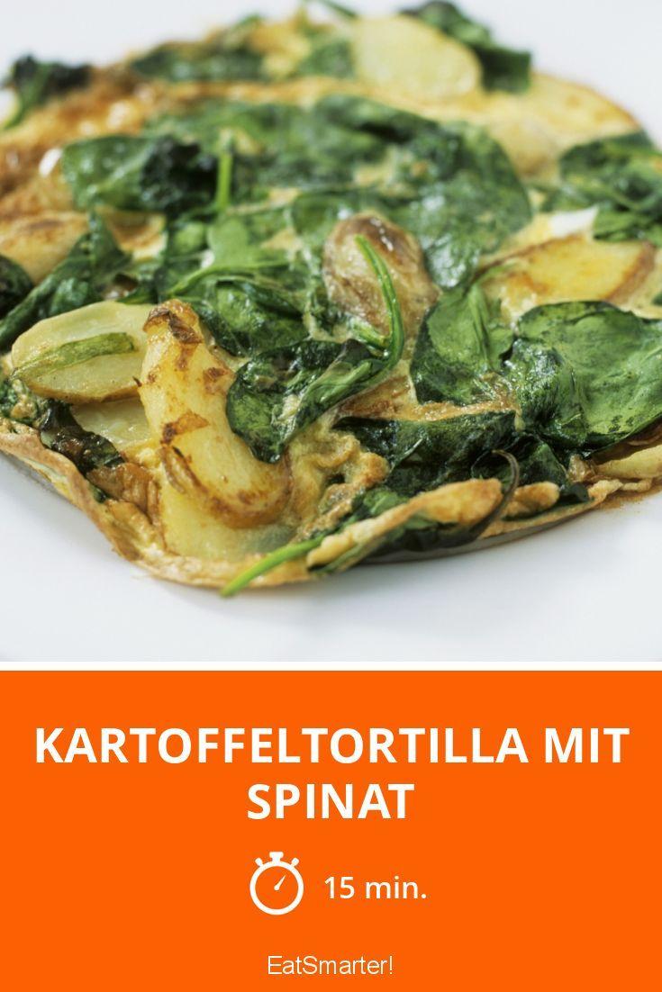 Kartoffeltortilla mit Spinat - smarter - Zeit: 15 Min. | eatsmarter.de