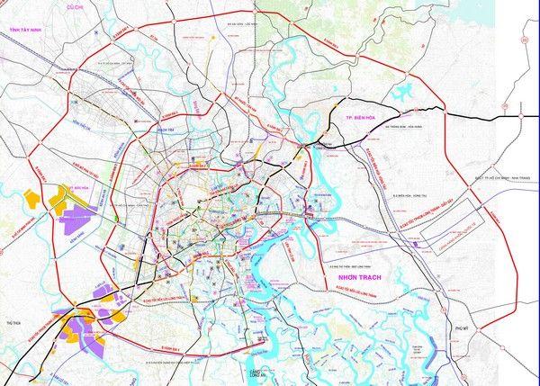 Bản đồ Quy Hoạch Giao Thong Khu Vực Tp Hcm Bản đồ Giao Thong Quỷ