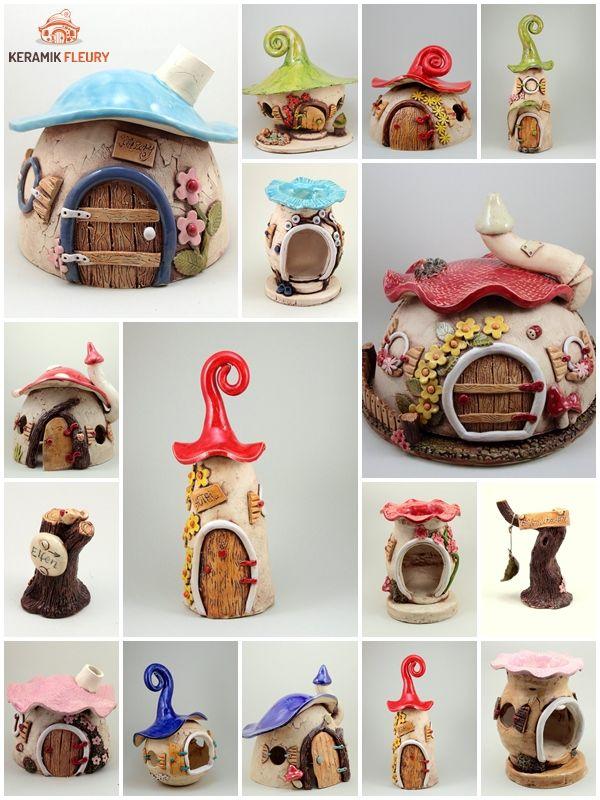 Kreative Keramik, Insektenhotel, Räucherhäuschen, Käseglocke, Duftlampe, Wichtelwelt vin Keramik-Fleury