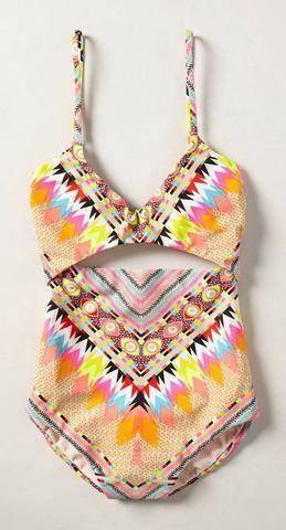 Boho High Rise Bohemian Style Multi Color Bikini Set