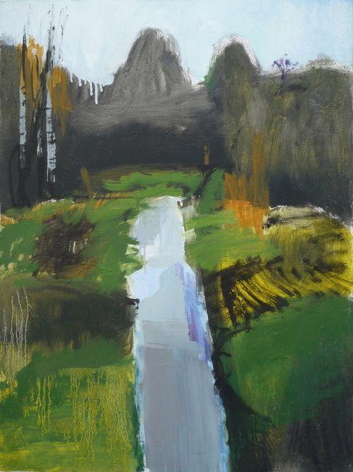 Olivier Rouault   Paysage   Olivier Rouault aimerait que sa peinture reste figurative, non par crainte ou mépris de l'abstraction pure, mais pour qu'elle reste une suggestion permanente afin que le spectateur puisse aller à rêver sa propre image, sa propre histoire et qu'ainsi il se l'approprie.