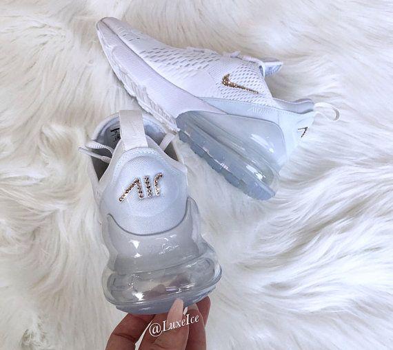 bc23dbcb99f4b Swarovski Nike Air Max 270 Shoes White/Black/White - customized with ...