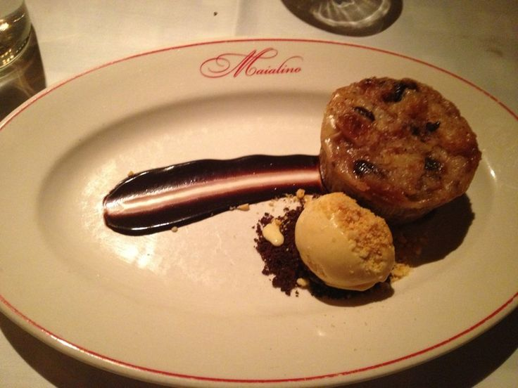 Maialino - New York, NY, United States. bread pudding with hazelnut gelato.