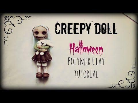 Creepy Doll ▪ Halloween ▪ Polymer Clay tutorial - YouTube