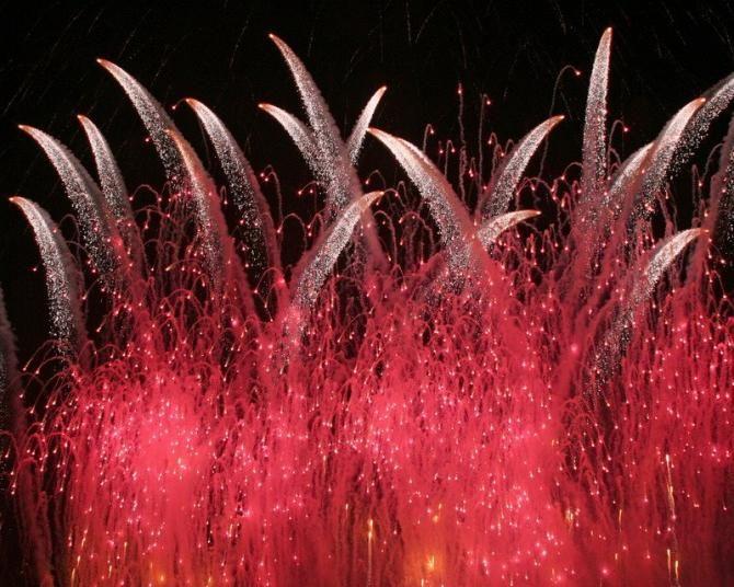 Fuegos Artificiales de Año Nuevo    ciudad  colores  eventos