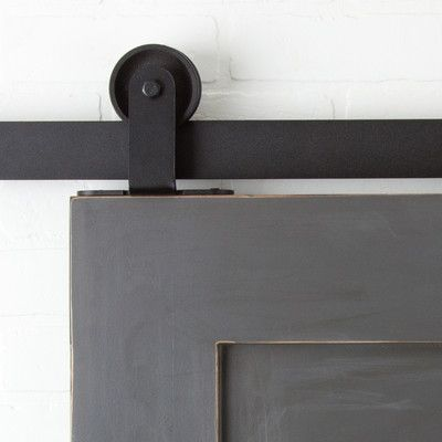 erias home designs straight strap sliding barn door hardware youu0027ll love wayfair - Erias Home Designs