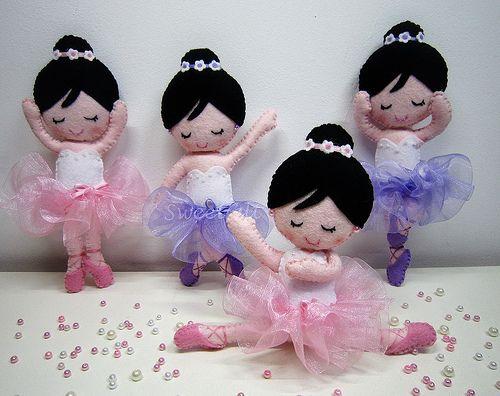 ♥♥♥ As bailarinas... by sweetfelt  ideias em feltro