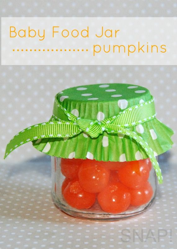 crafts made with babyfood jars | ... dinner and these baby food jar pumpkins would be so fun to share