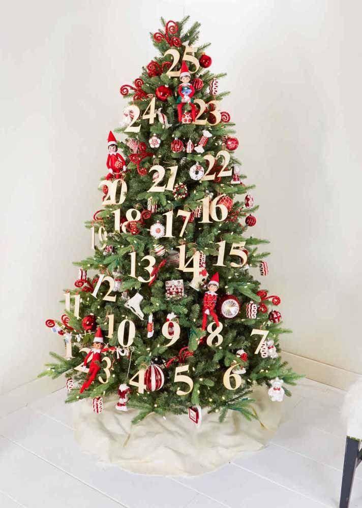 Conte Os Dias Para Chegar O Natal Arvores De Natal Elegantes