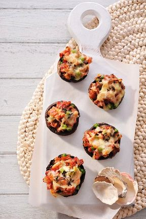 Cajunlicious | Seafood Stuffed Mushroom Caps: Yum! Check out the seafood cakes