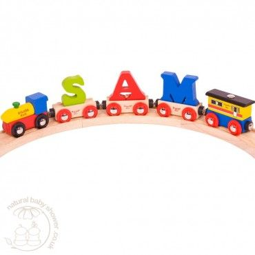 BigJigs Rail - Customised Wooden Name Train  www.naturalbabyshower.co.uk/bigjigs-rail-customised-wooden-name-train.html