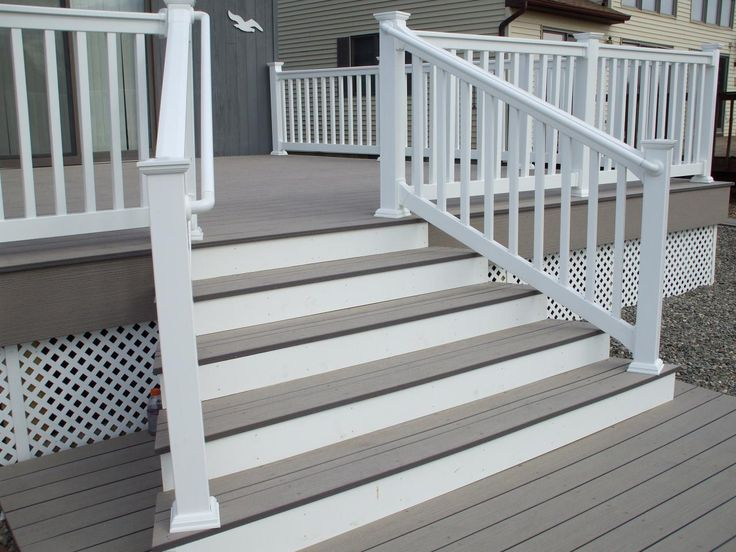 Like the white and grey combo  deck designs | David J Festa Carpentry General Contractor - Deck design Ideas