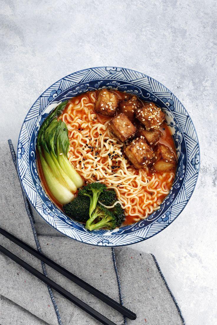 Curry Ramen with Crispy Baked Tofu // vegan ramen, vegetarian ramen, ramen recipes