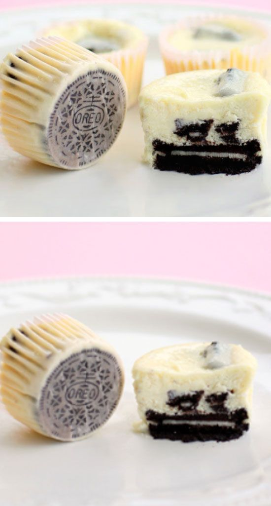 Cookies and Cream Cheesecakes | Click Pic for 20 Quick and Easy Dessert Recipes for a Crowd | Easy to Make Desserts for Kids Parties