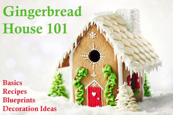 Gingerbread House recipes, blueprints, templates, plans, decorating ideas, tips and plenty of inspirations for your own Christmas creation.