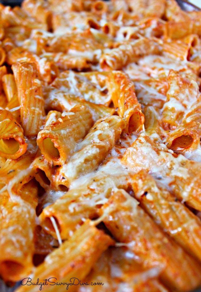 Olive Garden Five-Cheese Ziti Al Forno (homemade or clean alfredo sauce)