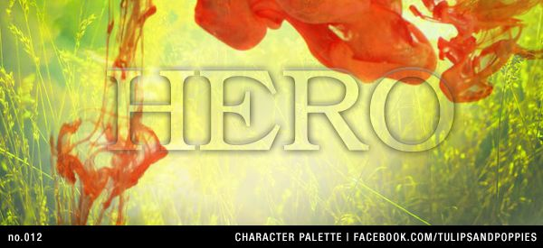 no.012 Character Palette: Hero --- Be Inspired. Create. Write --- Click the photo to follow the journey of sisters co-authoring their first young adult novel. In their fantasy story, fourteen year-old Petunia resists her role as the 'chosen one' to save a forgotten realm. #writersblock #tulipsandpoppies #ya #youngadult #amwriting #amwritingya #writingprompt