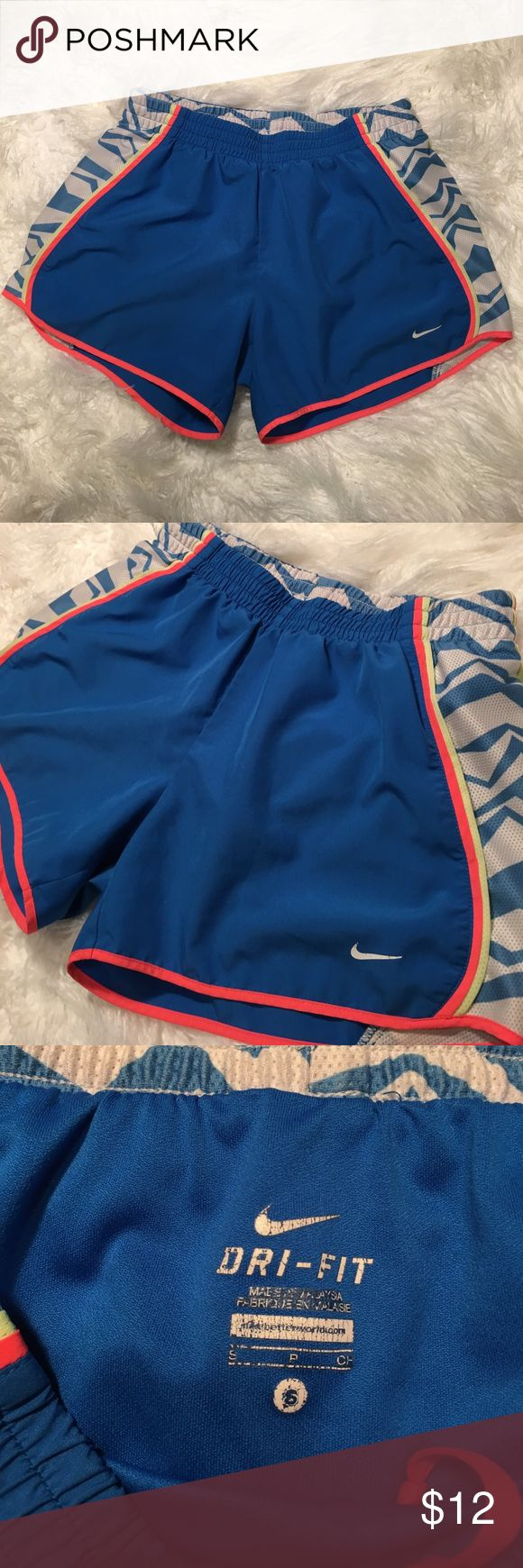 Nike Dri fit shorts sz Small Nike Dri fit shorts sz Small. Gently worn but shows wear in pic 5 and 6. Nike Shorts
