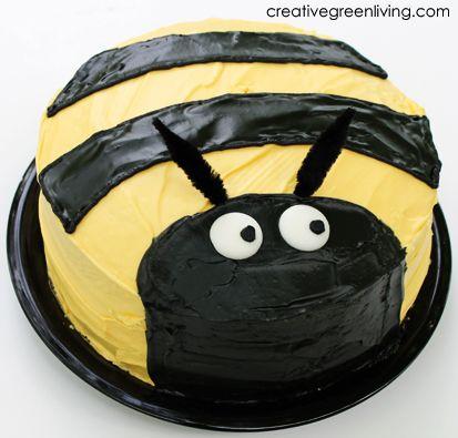 Bumble Bee Birthday Cake How-tos
