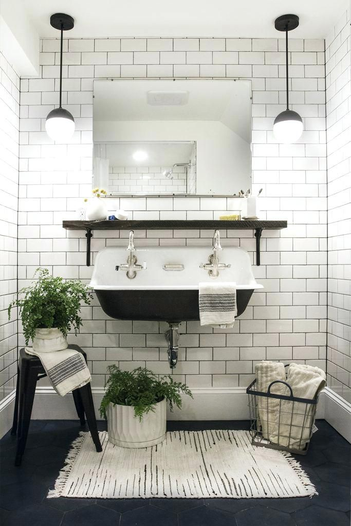 Small Black And White Tile Bathroom Full Size Of Bathroom Ideas Dark Tile Subway Tile Bathrooms White Dark Grou With Images Bathrooms Remodel Interior Bathroom Inspiration