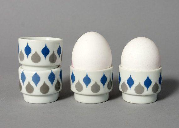 vintage egg cups lyngby mid century danish danild by northvintage, kr250.00