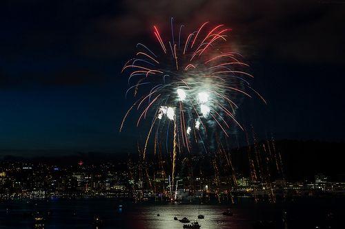 Fireworks - Wellington Harbour, Guy Fawkes 2013