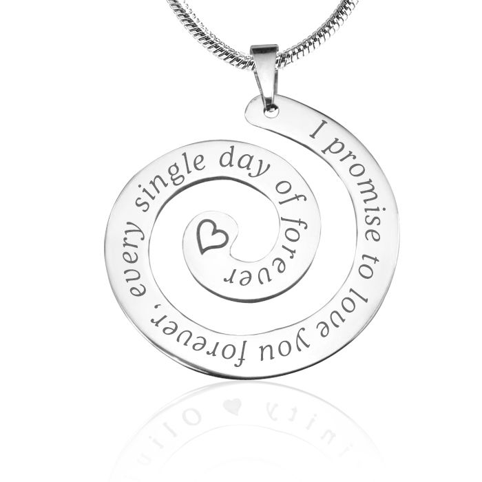 The Promise Swirl in Silver, Limited Edition for Valentine's Day is a unique design with a beautiful message #bellefever #silver #valentines #jewellery