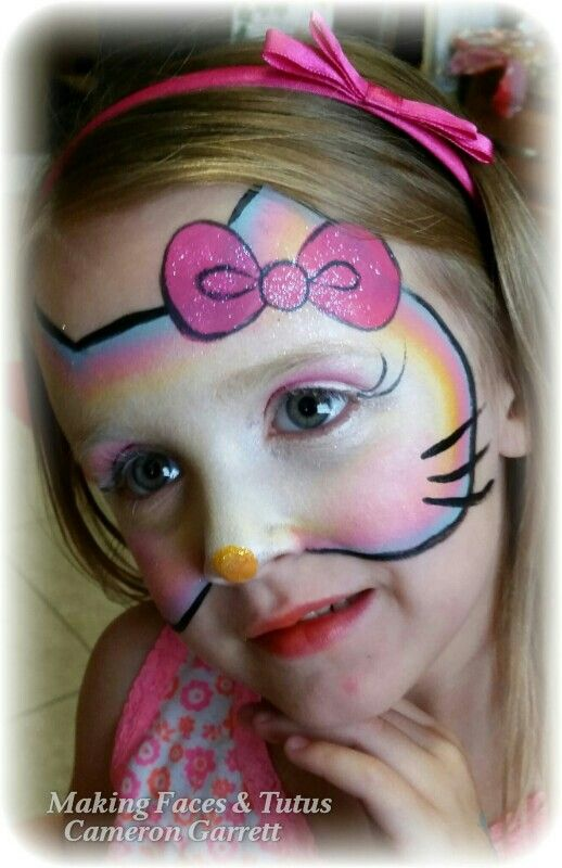 Sweet Hello Kitty Face Painting By Making Faces Tutus Www Makingfaces Vpweb