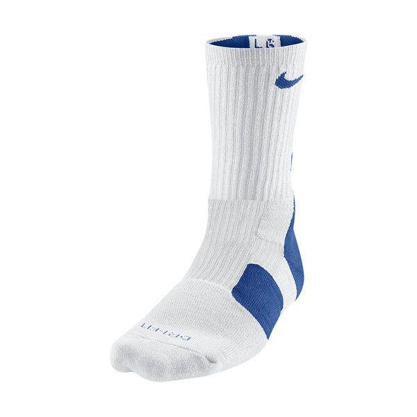 Calcetines Nike Elite 2.0 Dri-fit blanco/azul www.basketspirit.com/Calcetines-Baloncesto