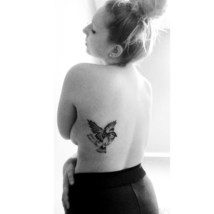 Chickadee tattoo in memory of my Gigi with my Babas handwriting