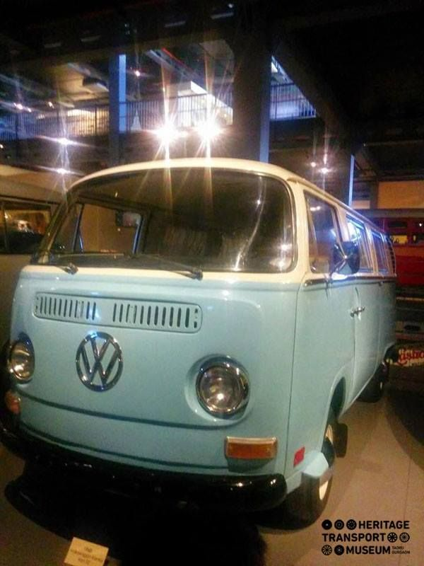 Here's a look at the striking Volkswagen Kombi 1974 Manual 1800 cc Camper Van adorning the museum!
