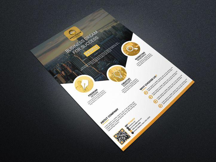 فلاير Busines بصيغة Psd Corporate Flyer Business Flyer Psd Template Free