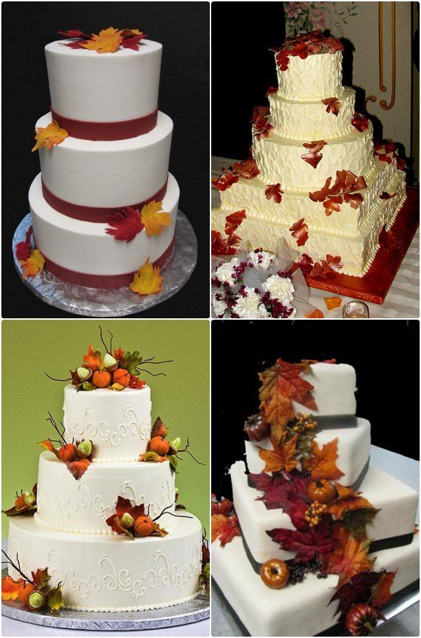 Best 25 green fall weddings ideas only on pinterest my for Autumn cake decoration