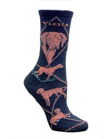 Vizsla Black Socks