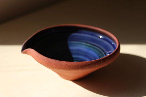 Scandinavian Studio Pottery Sauce Dish Gravy Boat. by SkySecrets