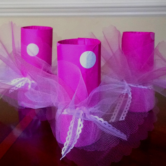 toilet paper roll ballerina craft ballerina favors i made these for my daughters 7255