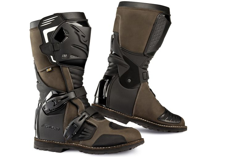 AVANTOUR Adventure Motorcycle Boots are designed for the dual-sport/adventure rider. Water-resistant full-grain leather and a High-Tex liner. Made in Italy