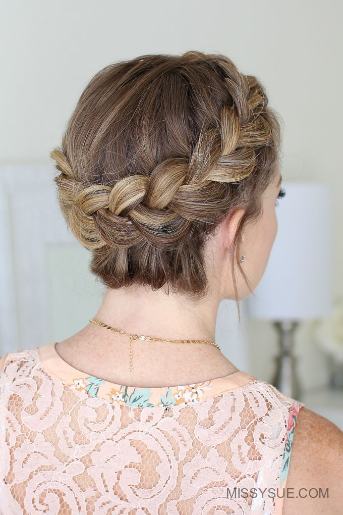 Dutch Crown Braid Cool Braid Hairstyles Braided Crown